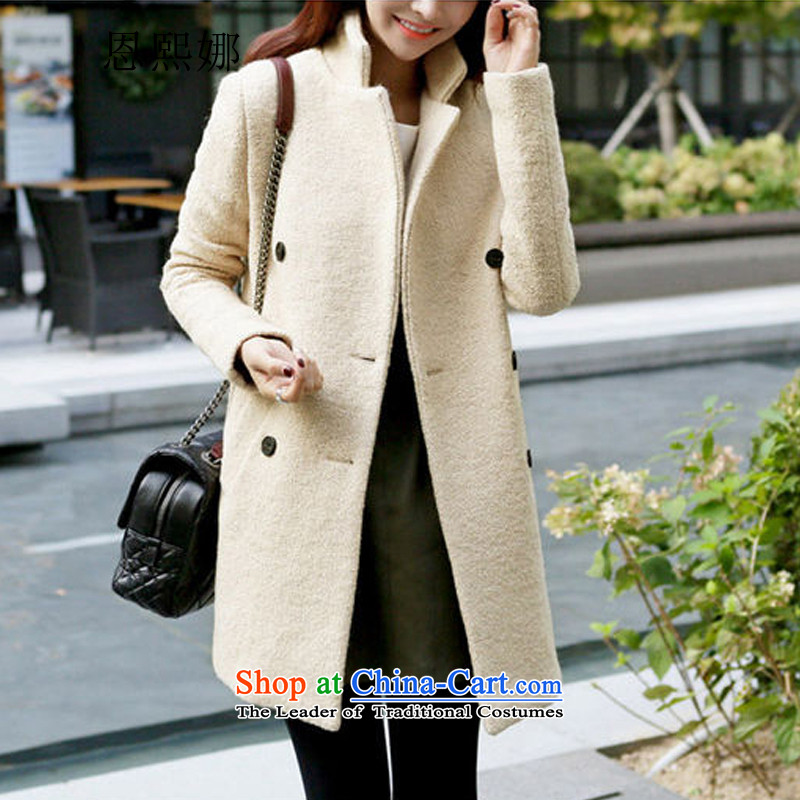 Eun-hui of the 2015 winter coats fleece?. Made from female long Sau San double-sweet girl 899 pictures color jacket M