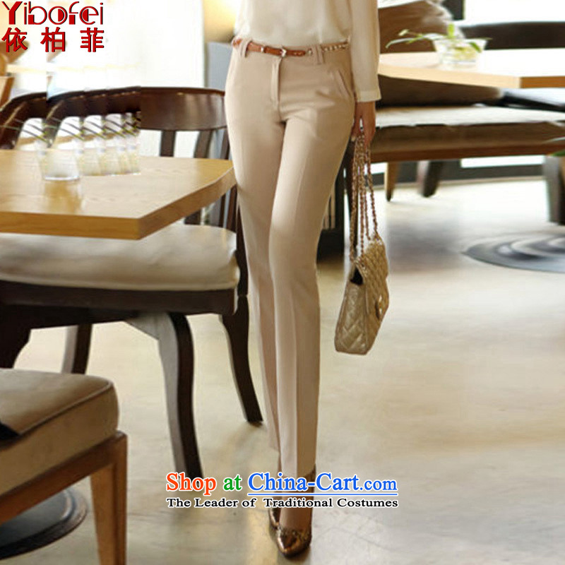 In accordance with the�14 autumn in new paragraph Korean commuter OL vocational work trousers larger female trousers video thin casual pants color picture Y077 girl燬