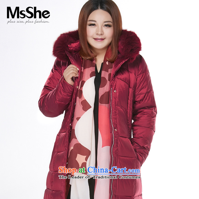 Msshe xl women for winter thick sister to XL 2105 winter clothes for long, fox gross downcoat bourdeaux 3XL 51-68 13