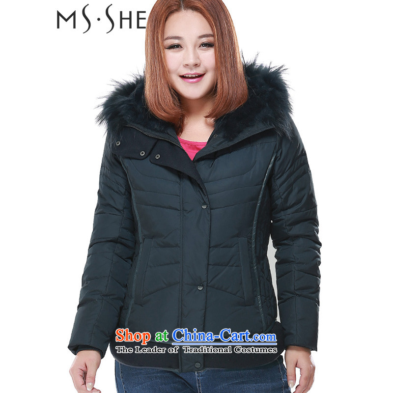 Msshe xl women for winter thick sister to xl new leisure downcoat women Sau San short of Commerce68263XL blue