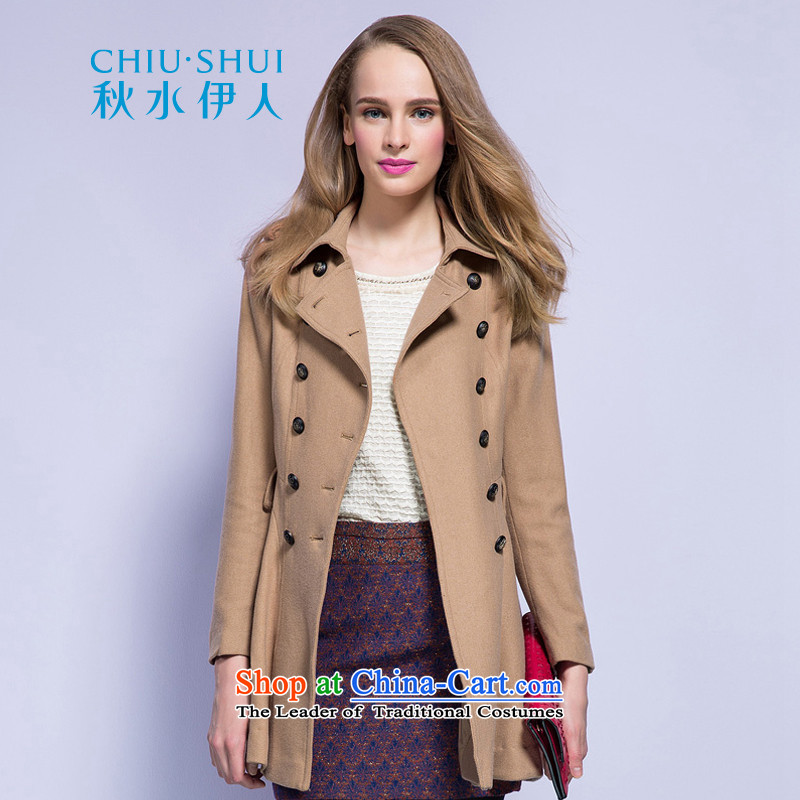 Chaplain who fall inside the new women's double-ups in the Sau San long coats�3S3120019燽rown beige�5_S Jacket