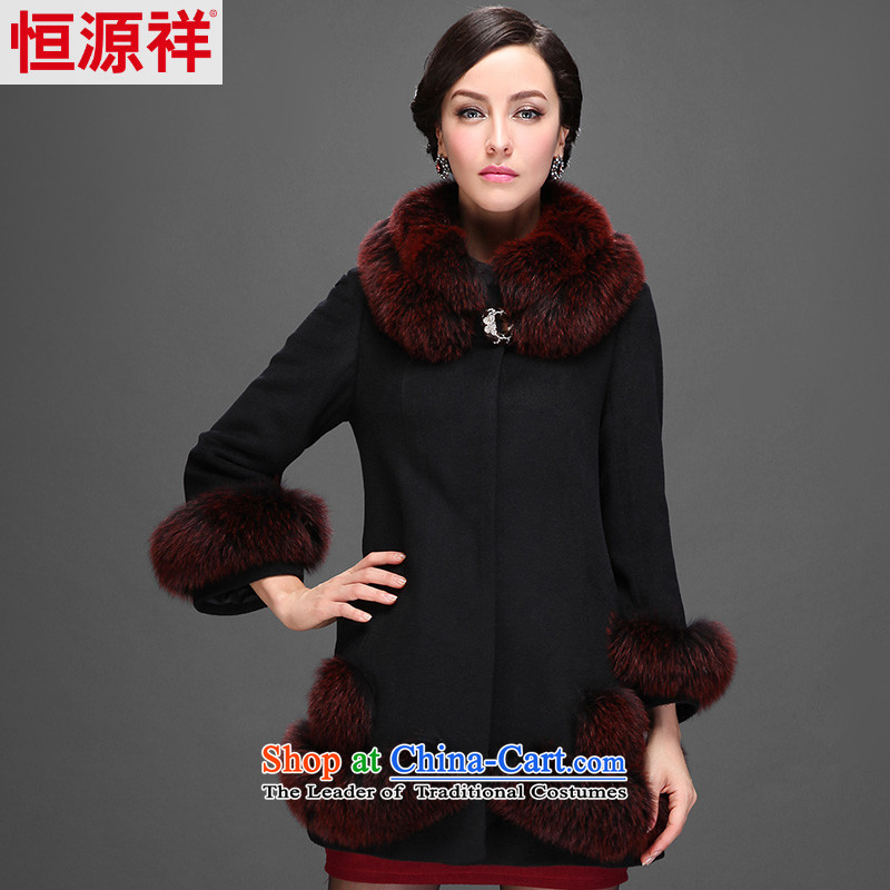 Hengyuan Cheung 2014 women in the long hair? coats wool cloak for a gross jacket 2559 ad black� 180_100A_3XL_ 1_