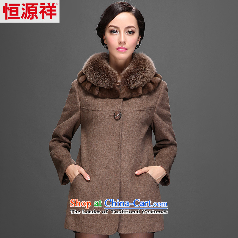 Hengyuan Cheung 2014 Women's gross Washable Wool coats that older in this long overcoat 6_ 2553 sub-ni multimedia and� 175_96A_XXL_