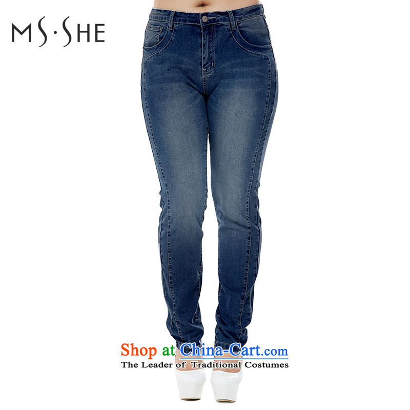 To increase the number msshe ladies pants autumn 2015 MM thick elastic cowboy replacing ladies pants castor pants 7 423 dark blueT4