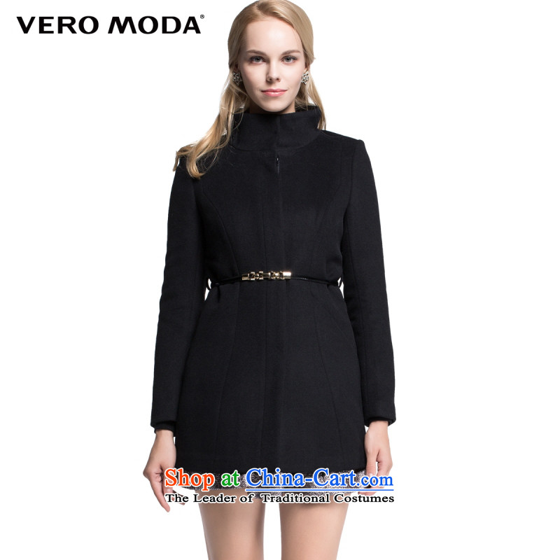 Vero moda Foutune of exquisite design three-dimensional construction-semi-high collar jacket |314327027 gross? 010 Black�5_84A_M