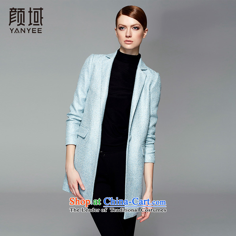 Mr NGAN domain 2015 autumn and winter new women's suits for long a wool coat-know what gross jacket 04W4496 Sau San  L/40 blue