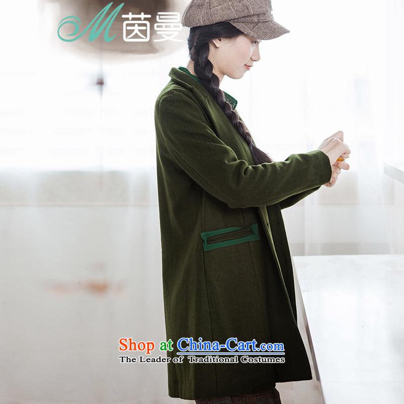Athena燙hu Load 2015 Amman New 2 Flap leave two?? _8433200806 coats jacket- Army green燣