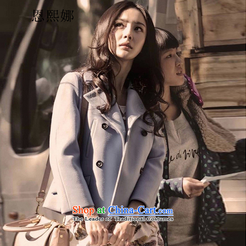 Eun-hui of the 2014 autumn and winter new era of small 3 Yang Siu Lam with the exponent wool coat female gross?? jacket, Korean short of 8 702 volcanic ash燬