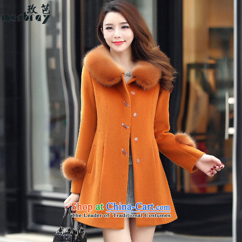 The 2015 autumn and winter and the new Korean fashion, long hair? jacket coat women gross Sau San? BJ8008 ANTHURIAMXL
