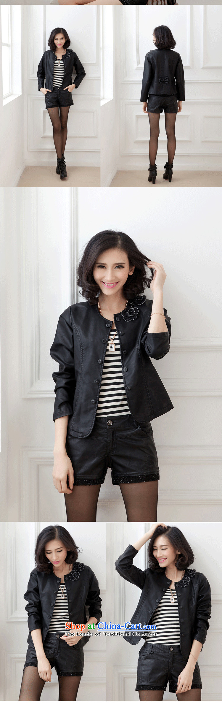 The Autumn Women's clothes coat 2015 Sau San large leather jacket PU leather jacket new small Ms. expertise to increase the beauty mm small jacket female black聽XXL picture, prices, brand platters! The elections are supplied in the national character of distribution, so action, buy now enjoy more preferential! As soon as possible.