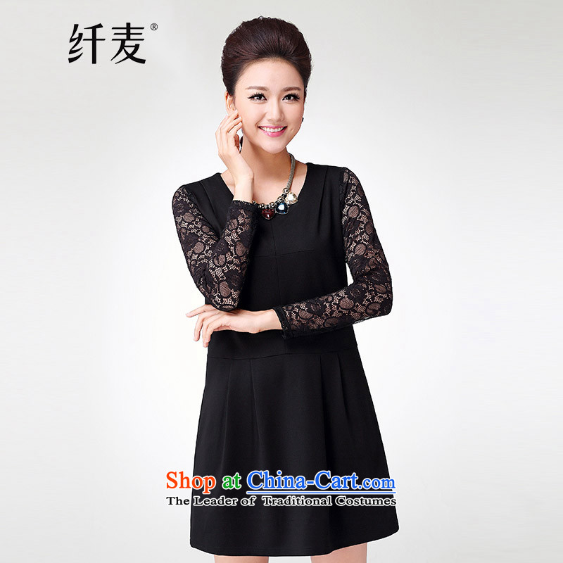 In the former Yugoslavia is indeed intensify code mecca female thick new_ Autumn mm 2015 Sau San lace spell a series of dresses 214,100 Black4XL