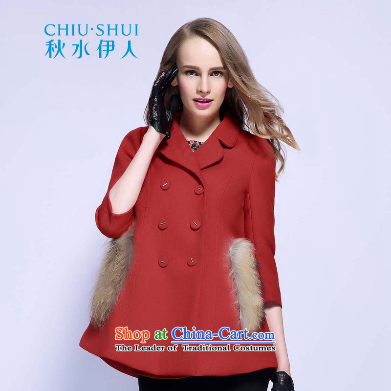 The Mai-Mai autumn load for developing new versions of A CLASSIC DOUBLE-7 cuff coats�3N3120010牋175_XXL red