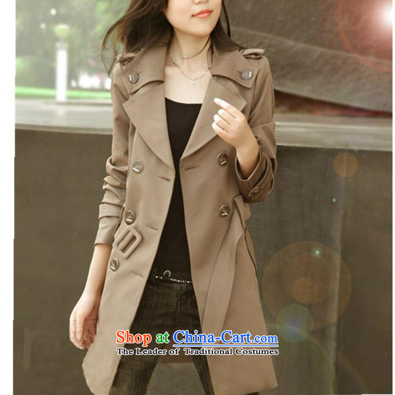 In spring and autumn 2015 the new Korean version of large numbers of small female incense wind jacket in Sau San, double-Long Hoodie female coats thick MM autumn Sau San large thin coat Graphics Card燫ecommendations 145-165 its color XXL catty