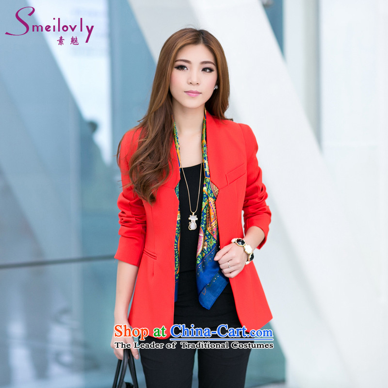 So clearly to xl female thick mm2014 autumn and winter Load New Korea long-sleeved Pullover stylish quality small business suit in long jacket, Sau San video thin 5001 Orange2XL around 922.747 140