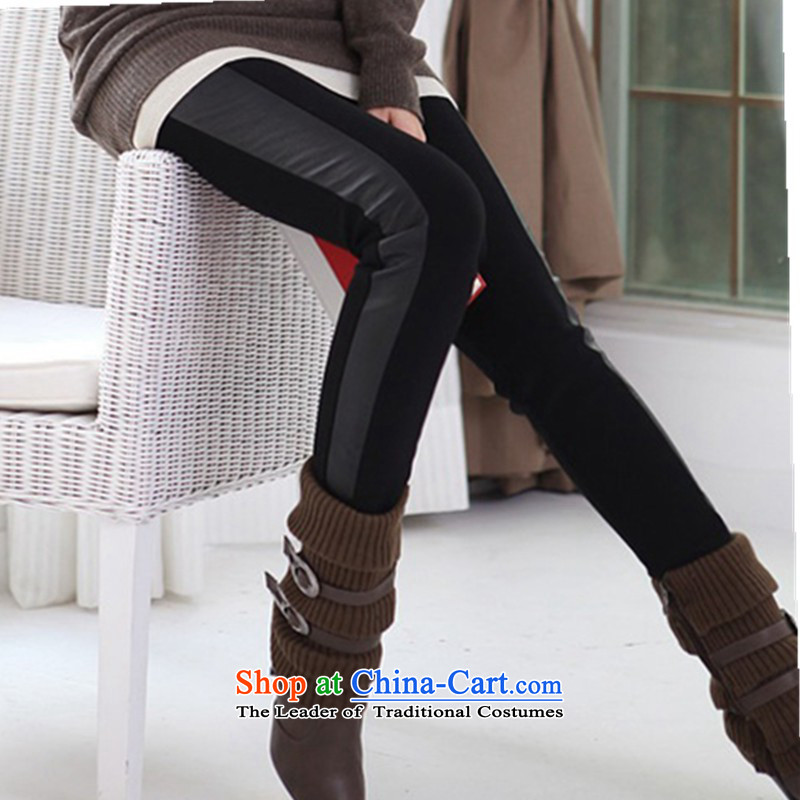 2015 new forming the autumn and winter trousers, wear long trousers200 catties Thick coated trousers video thin mm pencil castor trousers larger fall in lint-free thick black trousersXXXXXL Castor Pencil