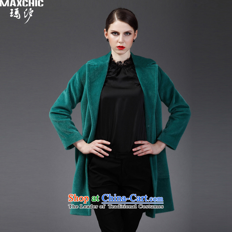 Marguerite Hsichih maxchic 2015 Ms. autumn and winter in long-sleeved long stingrays, lint-free material flocking wool coat female jacket?�,832 accounts爂reen燣