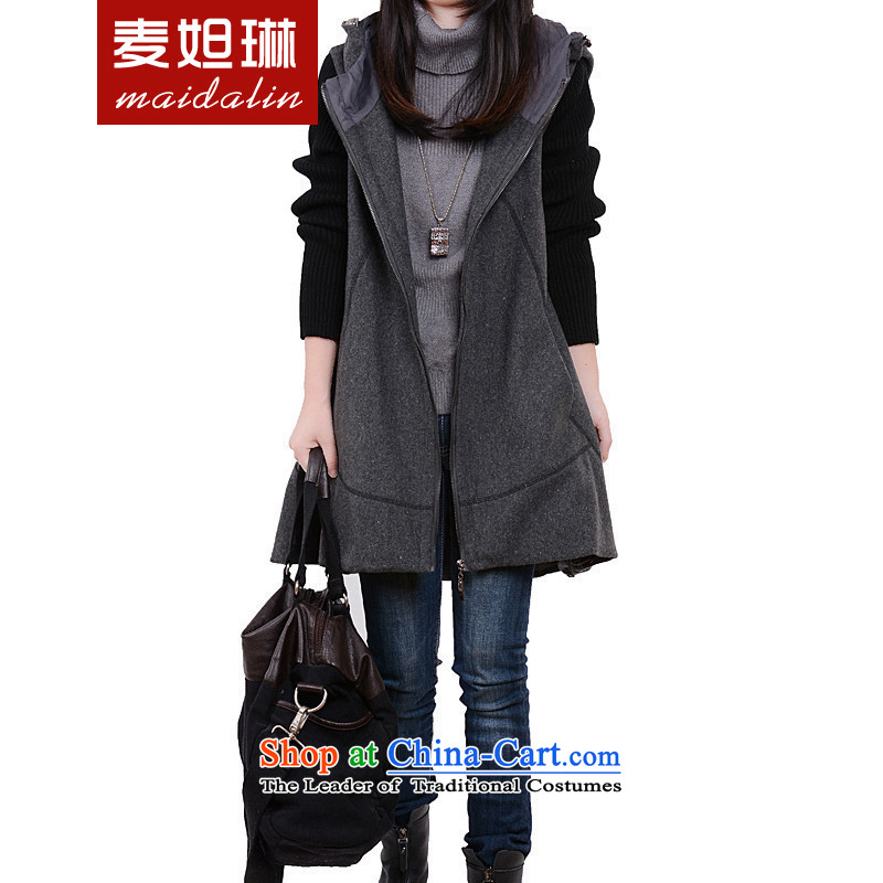 Replace the Spring and Autumn period the new 2015 Korean fashion very casual jacket for larger groups? mm gross MJ652 coats gray?Lloose fit
