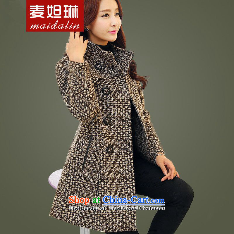 2015 winter clothing decorated new women's body hair Korean video thin coat latticed gross?? female 8961 picture color jacket聽XL