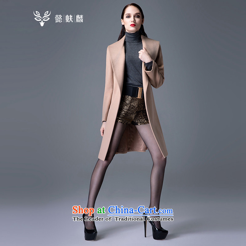 Thus Chu cashmere overcoat headquarters YFL2015 female new autumn and winter high integrity products in Europe and the woolen coat Sau San long coats gross? And color jacket femaleM