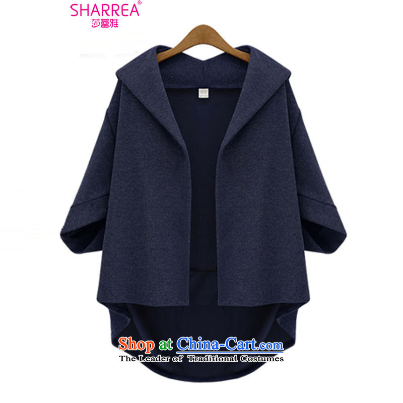 Sarah ya� 2014 European site autumn and winter, thick MM loose bat sleeves pullover�79 gross?燿eep blue燲L