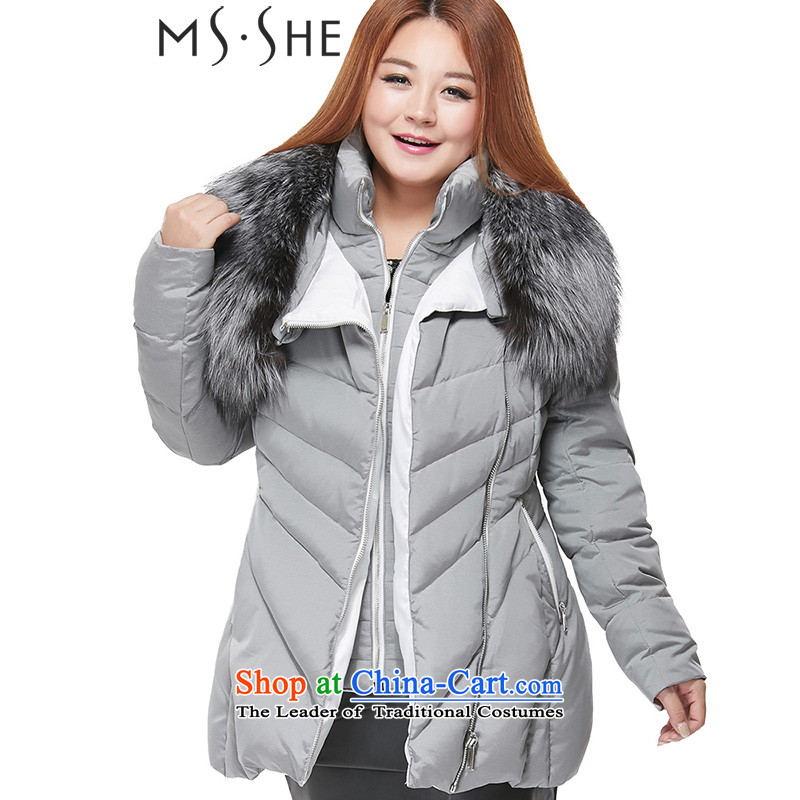 To increase the number msshe women 2015 autumn and winter, thick MM Silver Tycoon Nagymaros collar thick down gray�L spend .. 68 20