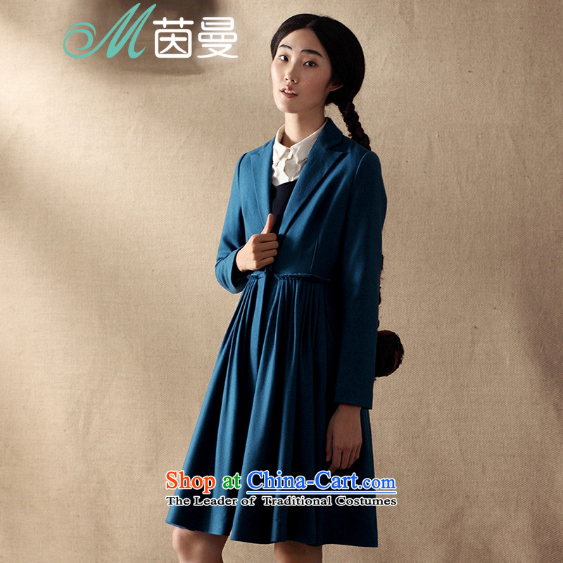 Athena Chu Cayman燬pring 2015 product CD new minimalist net color high waist video? jacket coat of thin V8433200259 elections as soon as possible so that the blue燲L