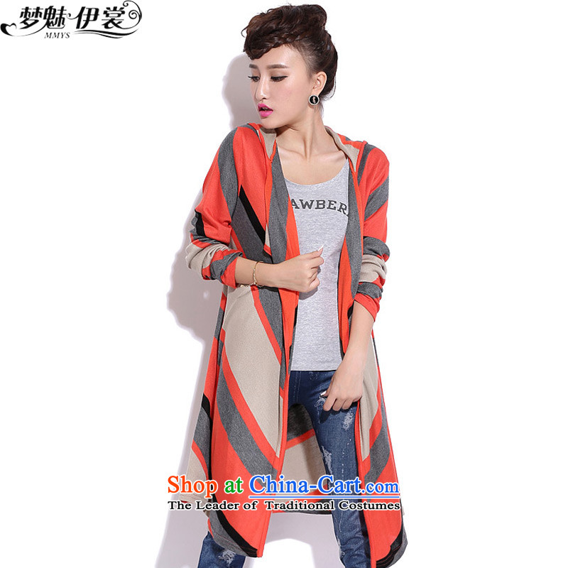 The staff of the Advisory Committee of the autumn and winter with Korean New to increase women's code in mm thick long long-sleeved knitwear cardigan jacket red loose are code _bras are not limited to_