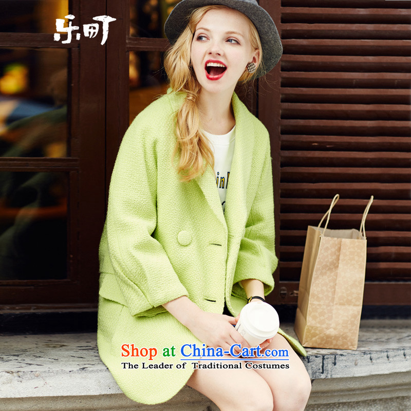 Lok-machi 2015 winter clothing new date of female double-bright color coats female winter yellow?S
