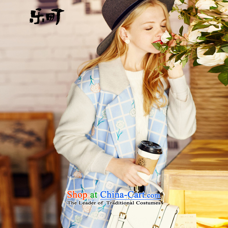 Lok-machi 2015 winter clothing new date of female plaid print color color coats spell? Spend燣