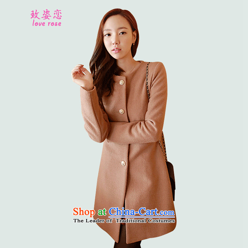 In 2014 Winter Land Gigi Lai new coats female Korea gross? version of autumn and winter in temperament as decoration long neck hair? And color coats燬