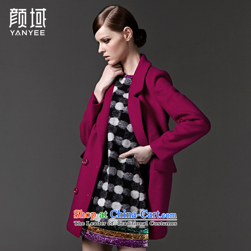 Mr NGAN domain 2015 autumn and winter temperament, new large roll collar double-long coats female gross�W3338 jacket爄n red?燣_40