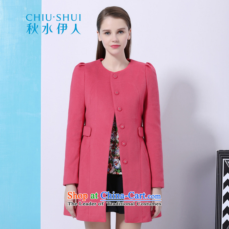 Chaplain who winter clothing new women's stylish and simple graphics thin hair so Sau San 1342E122068 plum 165_L Coats
