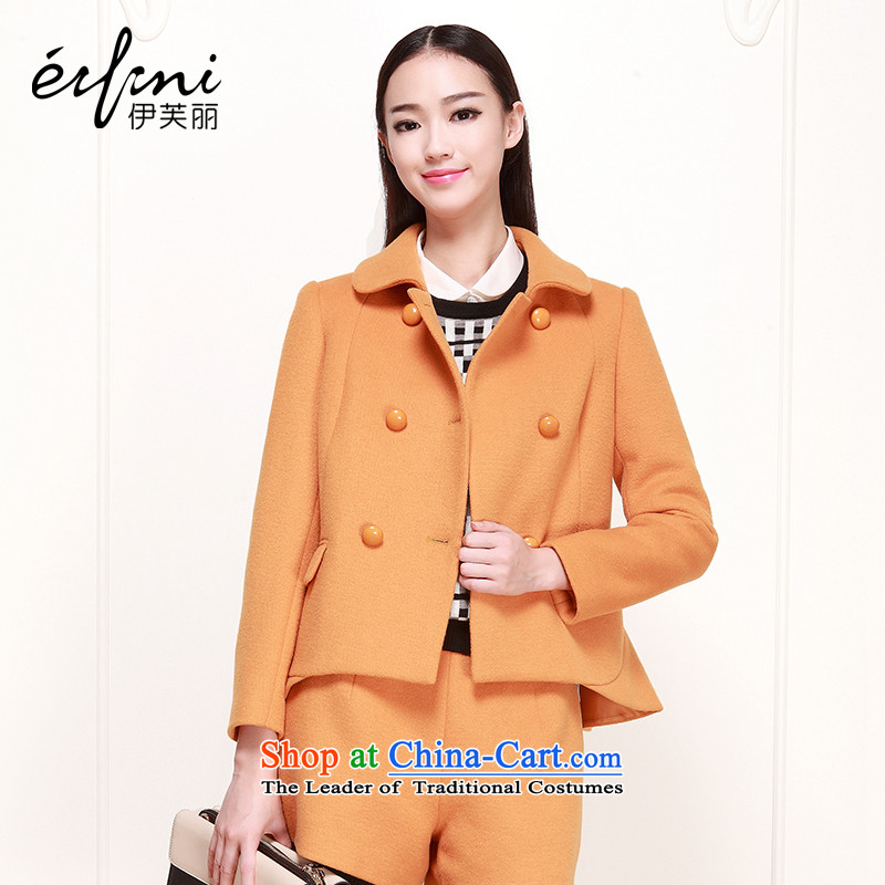 El Boothroyd 2015 winter clothing new Korean dolls collar double-long-sleeved jacket 6480947019 Yellow Kang?S