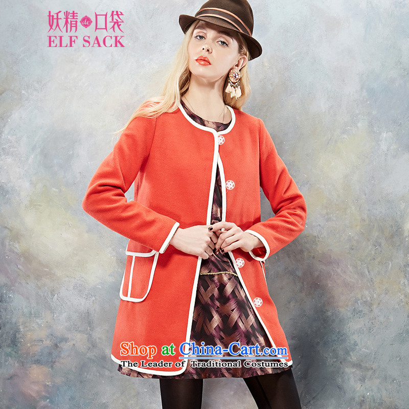 The pockets of witch finally till you 2014 new winter clothing knocked pack edge round-neck collar gross? coats 143207 Bright Orange Orange XL