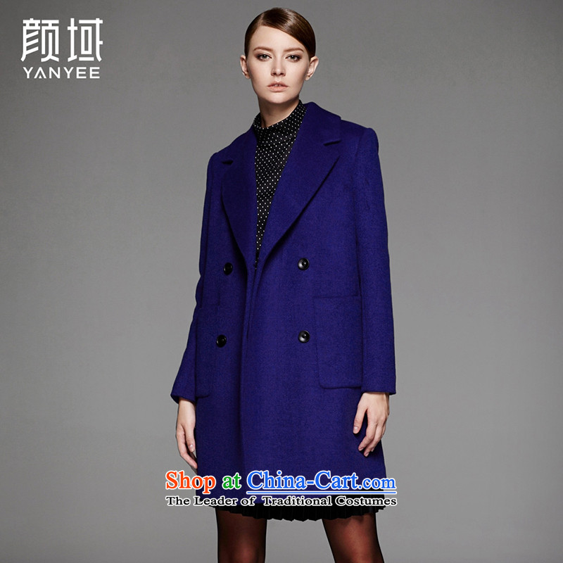 Mr NGAN domain 2015 autumn and winter new women's temperament in long wool? jacket double-suit for a wool coat�W4555燩o Lan燤_38