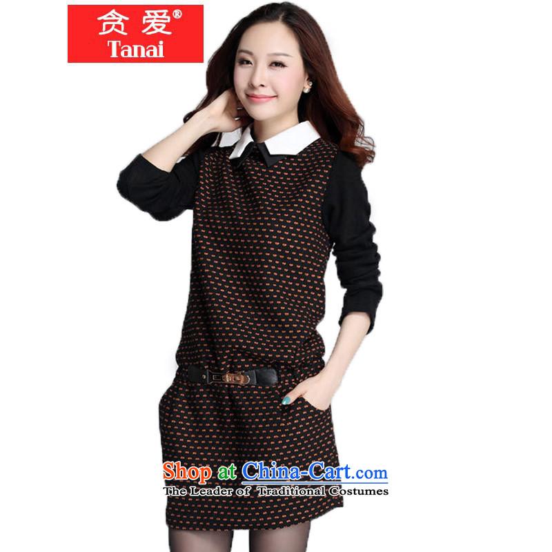 Indulge in fall and winter, the major new code women thick MM Korean Sau San Drop-Needle LS 3582 Skirt燲XXXL yellow dot