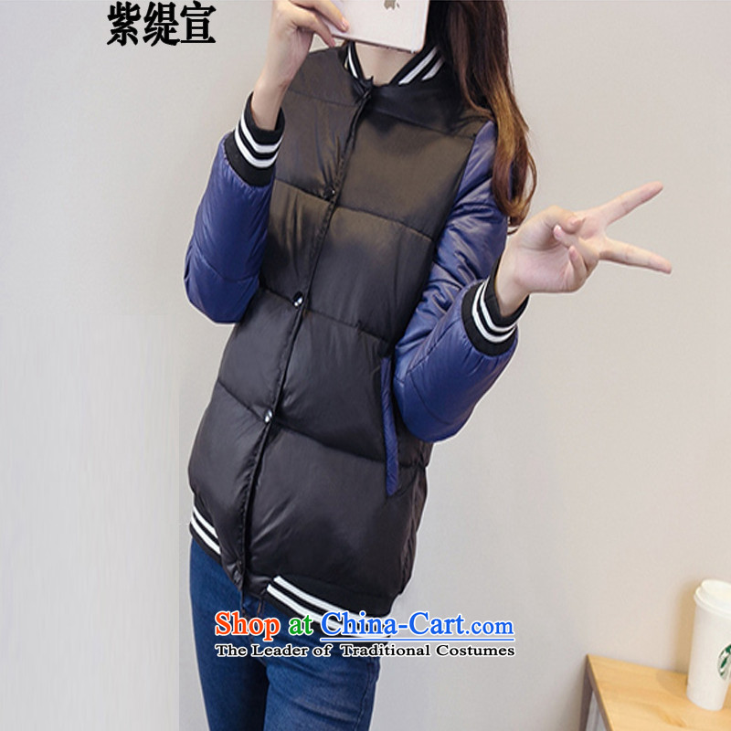 The first declared to Europe and the United States economy larger female autumn and winter new thick cotton graphics thin short mm_ cotton robe jacket燚8197_ services black�L燫ECOMMENDATIONS 150 - 160131 catty
