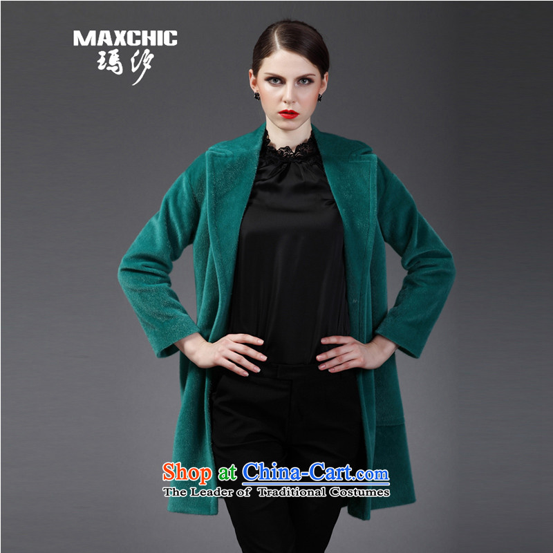 Marguerite Hsichih maxchic 2015 Ms. autumn and winter clothing for Lok rotator cuff-ming posted a simple bag loose tie gross coats female 12852 Partner Brochure 12,832 accounts? green L