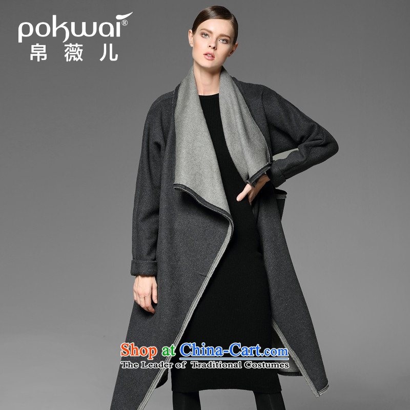 The Hon Audrey Eu Yuet-yung _pokwai_ Friendship 2014 winter new long-sleeved gross foreign woolen coat gray??M