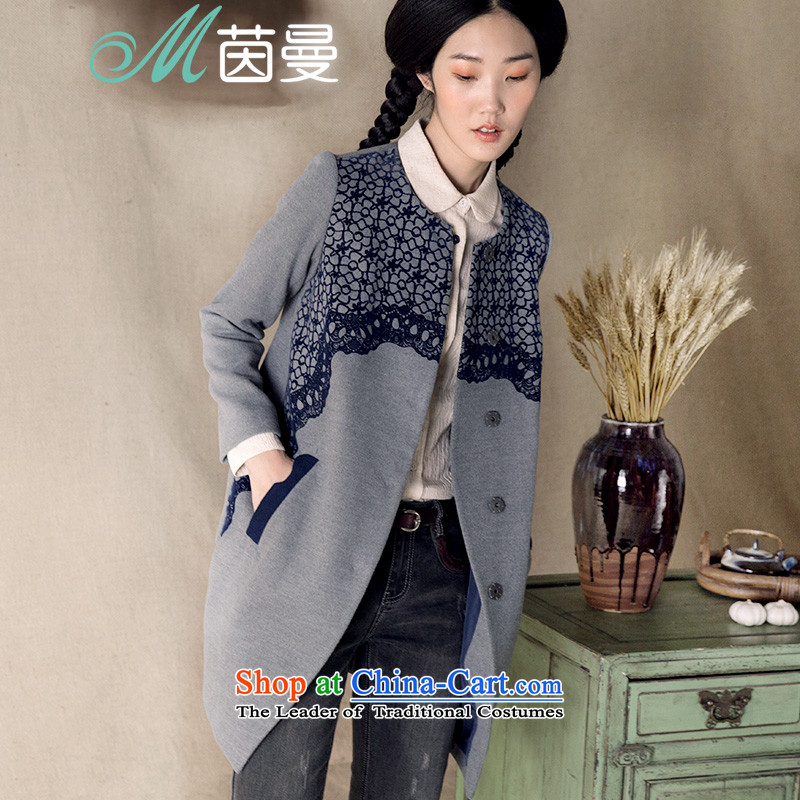 Athena Chu Cayman?2015 spring outfits stamp neck long coats_?? _8433200657 gross jacket- carbon?M
