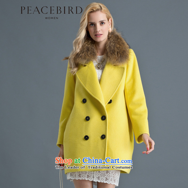 - New shining peacebird women's health roll collar for coats A4AA44349 gross Yellow?M