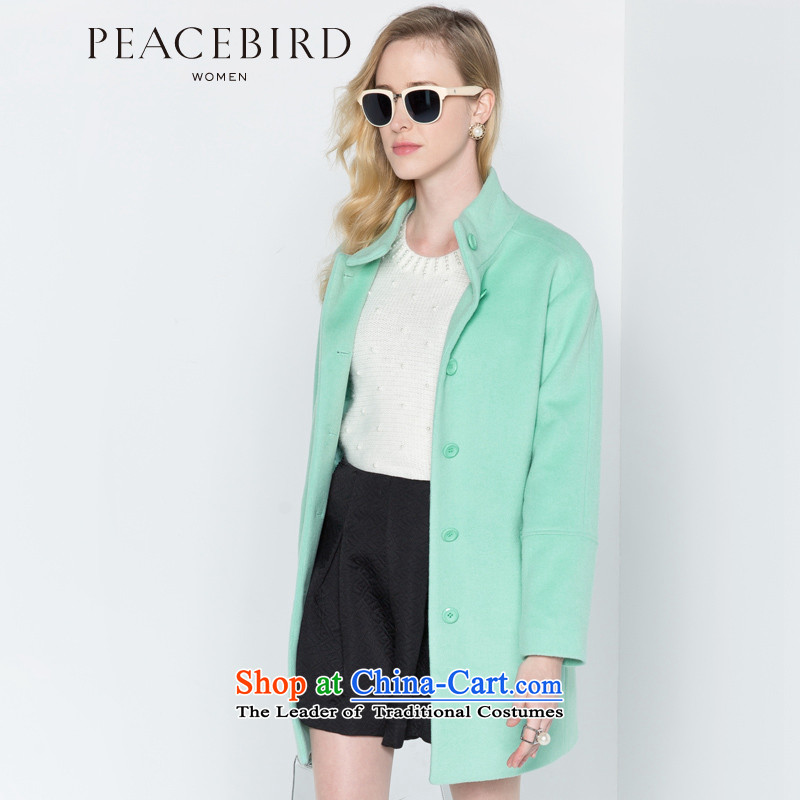 - New shining peacebird Women's Health 2014 winter clothing new collar coats A4AA44382 GREEN聽M