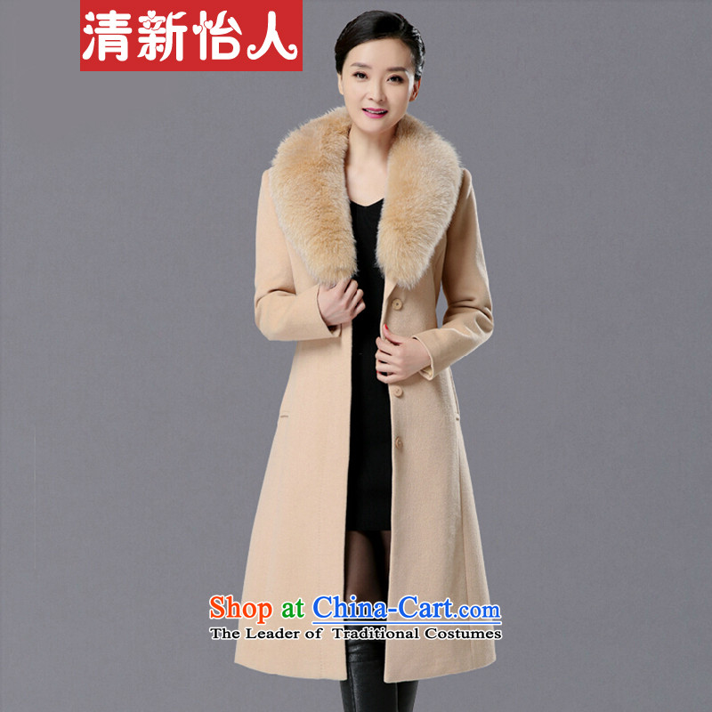 Refreshing the winter new woolen coat female fox washable wool coat of gross? a jacket and colorXXL