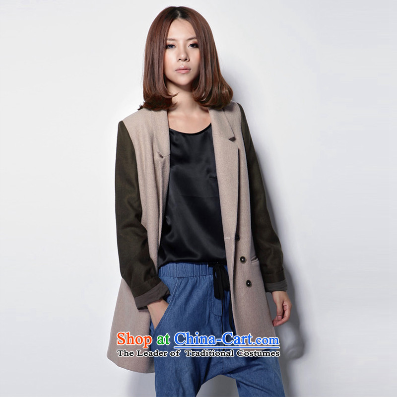 M 8N female double-wool coat long-sleeve sweater? the usual zongzi gray?S