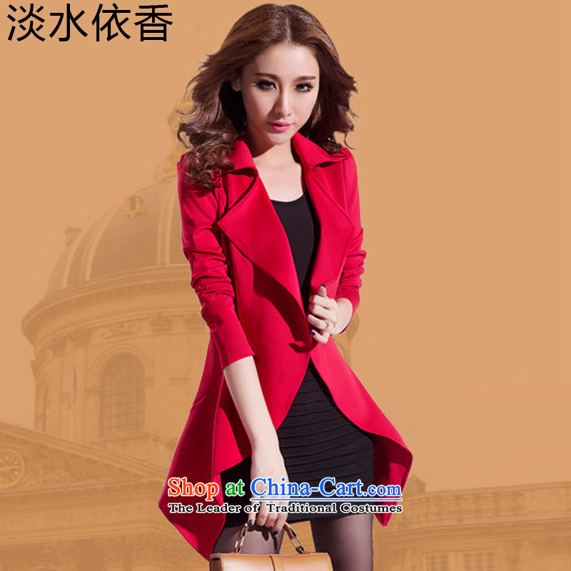 In accordance with the Shannon�15 Autumn freshwater load new to xl Women Korean thick MM cardigan two kits long-sleeved jacket coat small dresses autumn燲XXL_200 red coal to pass through_
