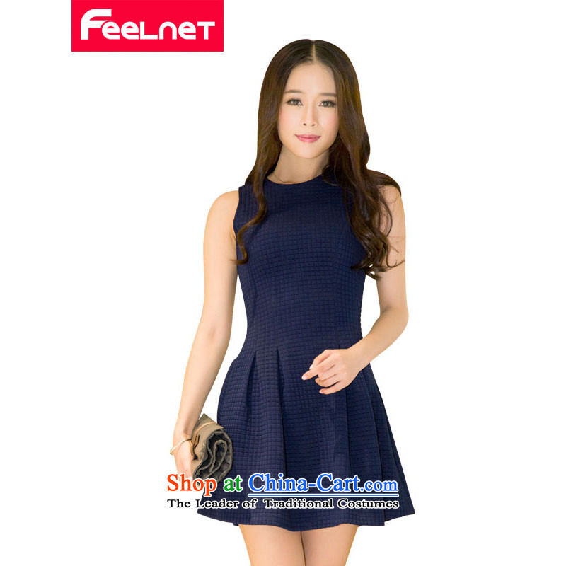 Install the latest autumn and winter feelnet2015, dresses female Korean western mm thick and a big number of female graphics thin dresses in the big red code 1490 4XL