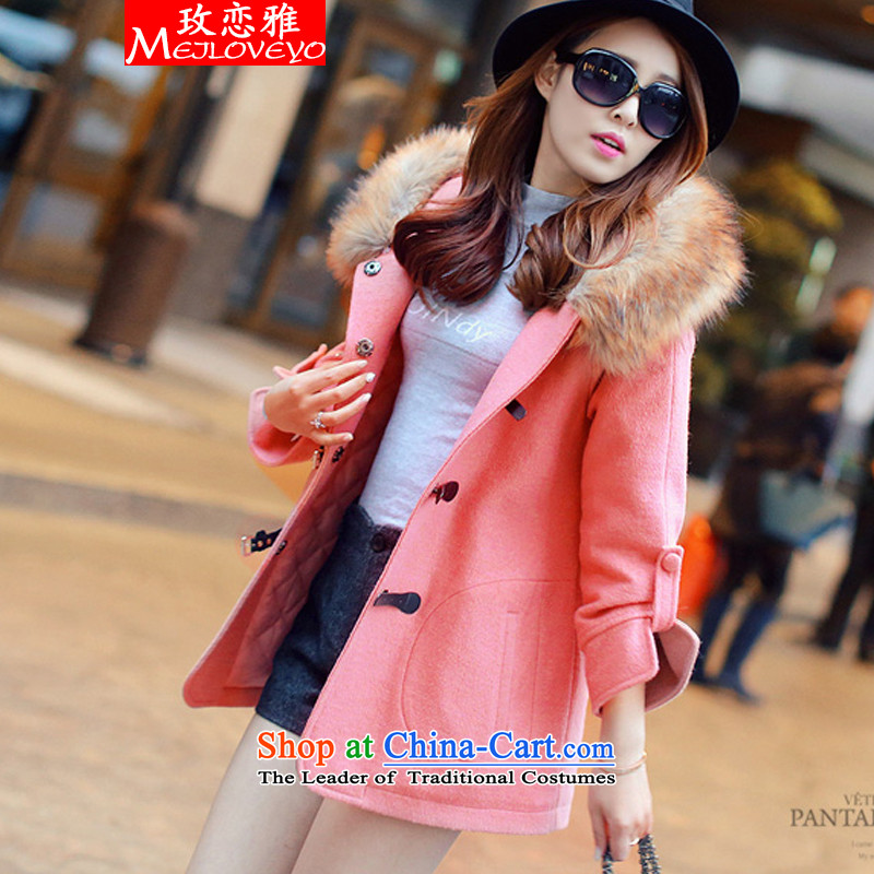 The land of the autumn and winter 2015 New Couture fashion thick overcoat new Korean Sau San for gross? jacket oke, a jacket female 7 353 pink燣