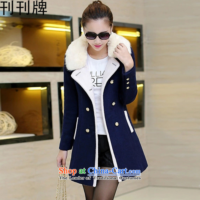 Issue Issue licensing new spring 2015 Korean version of the long coats female 9,340 gross? Navy M