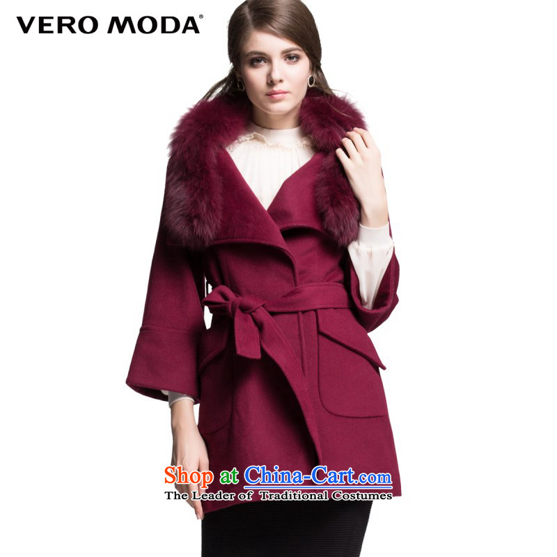 The fox gross decorated veromoda crisp fabrics of wool two wearing design with female windbreaker jacket? |314427013 160_80A_S Crimson Red 073
