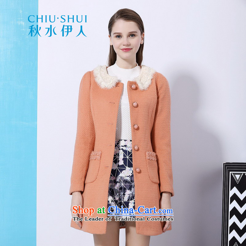 Chaplain who winter clothing new women's lady nail pearl gross pure colors in the     for long coats�41F122208爐oner Ju�0_M